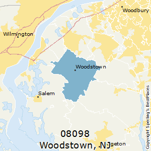 Woodstown,New Jersey County Map