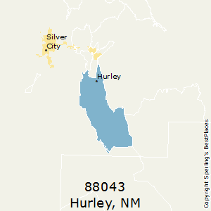 Hurley,New Mexico County Map
