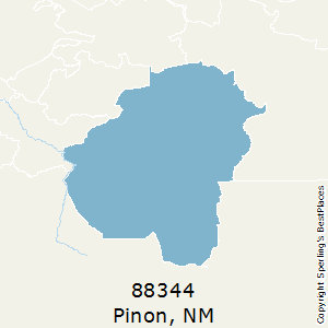 Pinon,New Mexico County Map
