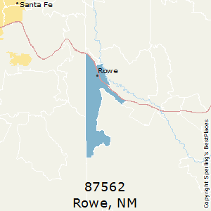 Rowe,New Mexico County Map