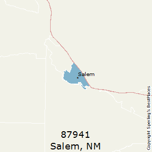 Salem,New Mexico County Map