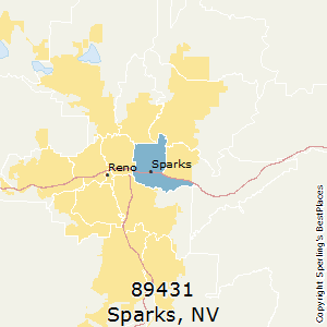 Sparks,Nevada County Map