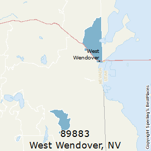 West_Wendover,Nevada County Map