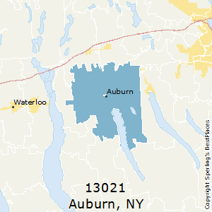 Auburn,New York County Map