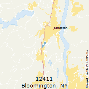Bloomington,New York County Map