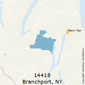 Branchport,New York County Map