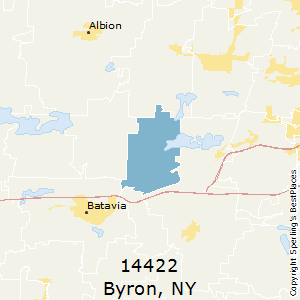 Byron,New York County Map