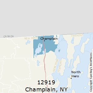 Champlain,New York County Map