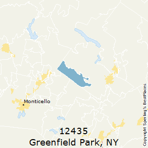 Greenfield_Park,New York County Map