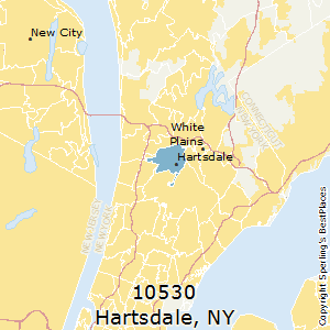 Hartsdale,New York County Map