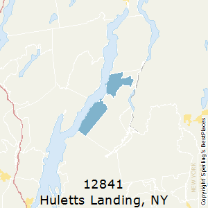 Huletts_Landing,New York County Map