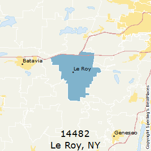 Le_Roy,New York County Map