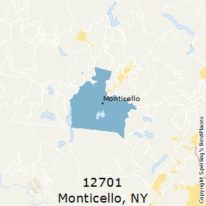 Monticello,New York(12701) Zip Code Map