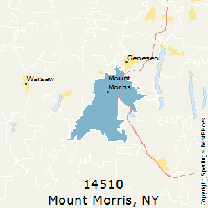 Mount_Morris,New York County Map