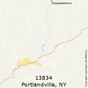 Portlandville,New York County Map