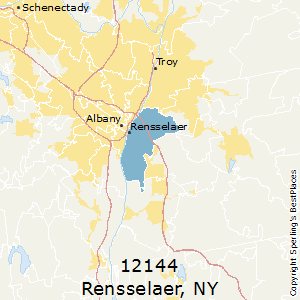 Rensselaer,New York County Map