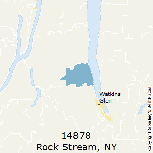 Rock_Stream,New York County Map