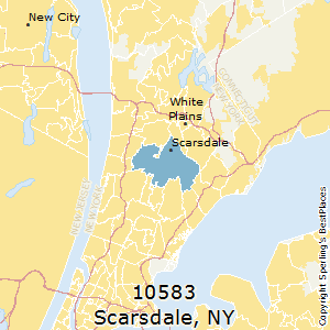 Scarsdale,New York(10583) Zip Code Map