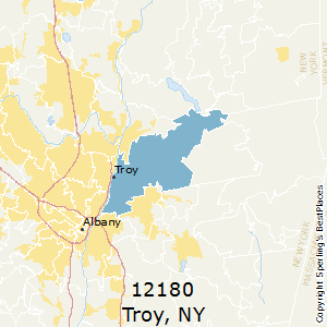 Troy,New York(12180) Zip Code Map