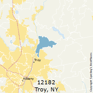 Troy Zip Code Map.Best Places To Live In Troy Zip 12182 New York