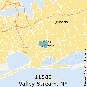Valley_Stream,New York County Map