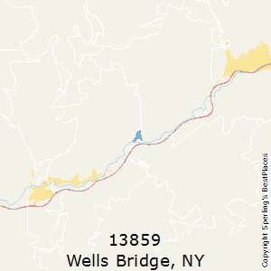 Wells_Bridge,New York County Map