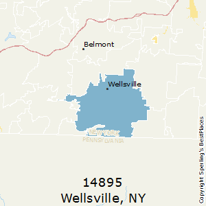 Wellsville,New York County Map