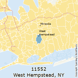 West_Hempstead,New York County Map