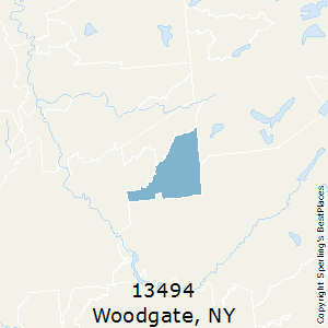 Woodgate,New York County Map