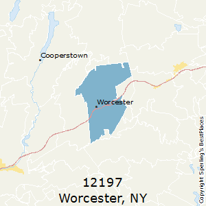 Worcester,New York County Map