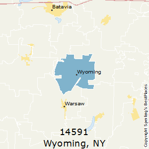 Wyoming,New York County Map