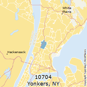 Yonkers,New York County Map