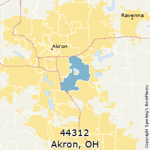 Akron Zip Code Map Best Places to Live in Akron (zip 44312), Ohio