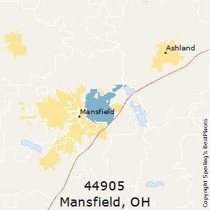 Mansfield Ohio Zip Code Map.Best Places To Live In Mansfield Zip 44905 Ohio