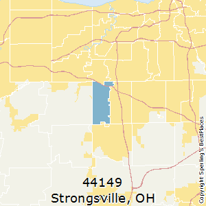 Strongsville,Ohio County Map