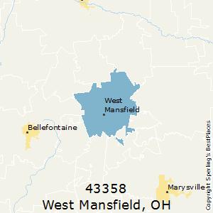 Mansfield Ohio Zip Code Map.Best Places To Live In West Mansfield Zip 43358 Ohio