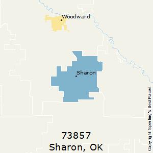 Sharon,Oklahoma(73857) Zip Code Map