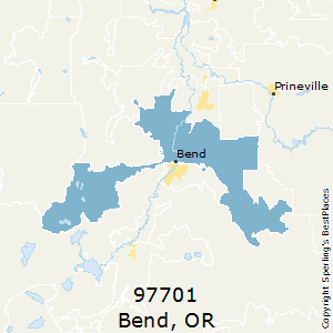 Bend,Oregon County Map