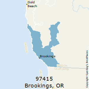 Brookings,Oregon(97415) Zip Code Map