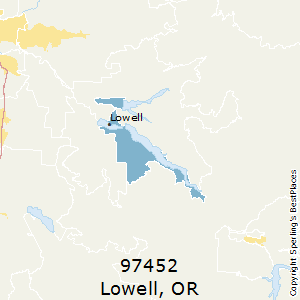 Lowell Oregon Map.Best Places To Live In Lowell Zip 97452 Oregon