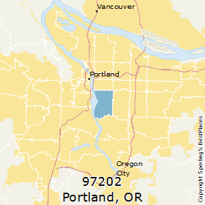 Portland,Oregon County Map
