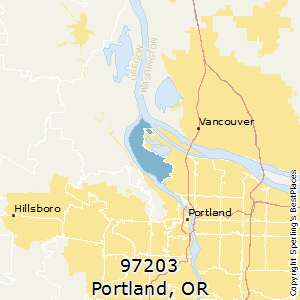 Portland,Oregon(97203) Zip Code Map