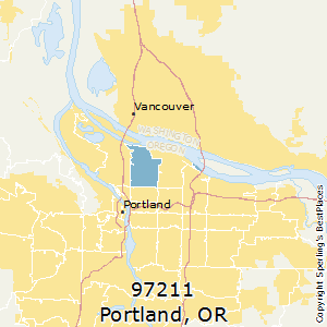 Portland,Oregon(97211) Zip Code Map