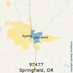 Springfield,Oregon County Map