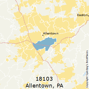 Best Places to Live in Allentown (zip 18103), Pennsylvania