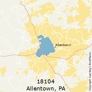 Best Places to Live in Allentown (zip 18104), Pennsylvania