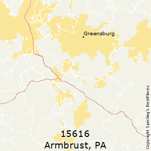 Armbrust,Pennsylvania County Map
