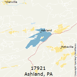 Ashland,Pennsylvania County Map