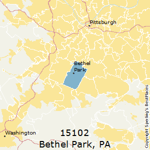 Bethel_Park,Pennsylvania County Map