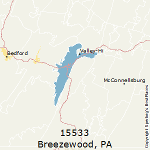 Breezewood,Pennsylvania(15533) Zip Code Map